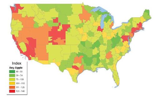 America-maps-apple-iphone-ipod-users